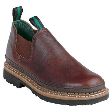 Georgia Boot Men's Georgia Giant Romeo Work Shoe Soggy Brown Full Grain Leather