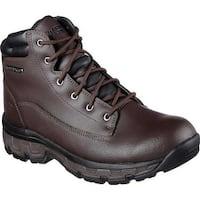 Skechers Men's Relaxed Fit Morson Sinatro Hiking Boot Dark Brown