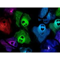 Monoprice 10 Count Cloth Gown Ghost Halloween String Light 11.5 Feet