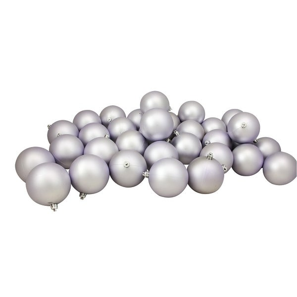 "32ct Matte Lavender Purple Shatterproof Christmas Ball Ornaments 3.25"" (80mm)"