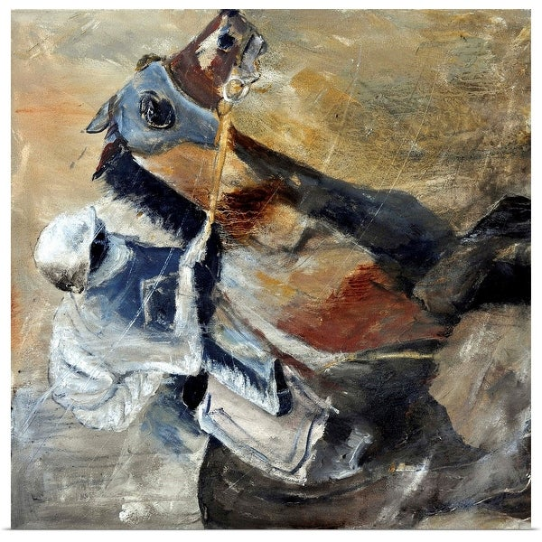 """""""Horse And Jockey"""" Poster Print"""