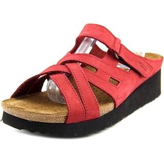 Spring Step Sabra Women Open Toe Leather Slides Sandal