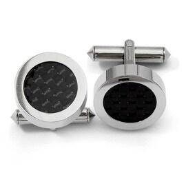 Chisel Titanium Black Carbon Fiber Cuff Links