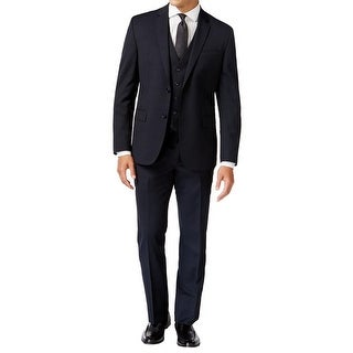 Kenneth Cole New York Mens Two-Button Suit Wool Blend 3PC - 48r