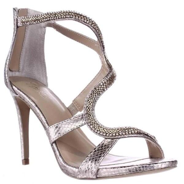 TS35 Neiva Jeweled Strap Dress Sandals, Champagne