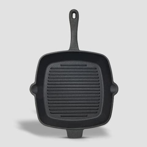 """CookPo 10"""" Square Pre-Seasoned Cast iron non-stick skillet"""