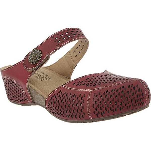 L'Artiste by Spring Step Women's Spoorti Clog Red Leather