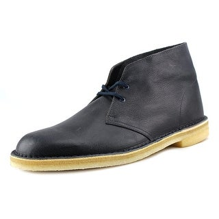 Clarks Originals Desert Boot Men Round Toe Leather Black Desert Boot