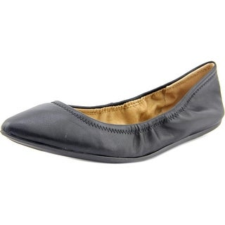 BCBGeneration Nassau Women  Round Toe Leather Black Ballet Flats