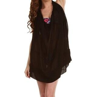 Chloe NEW Black Women's Size Large L Cover-Up Sheer Swimwear