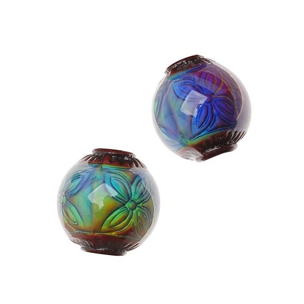 Mirage Color Changing Mood Beads - Round Ruby 12mm Diameter (2)
