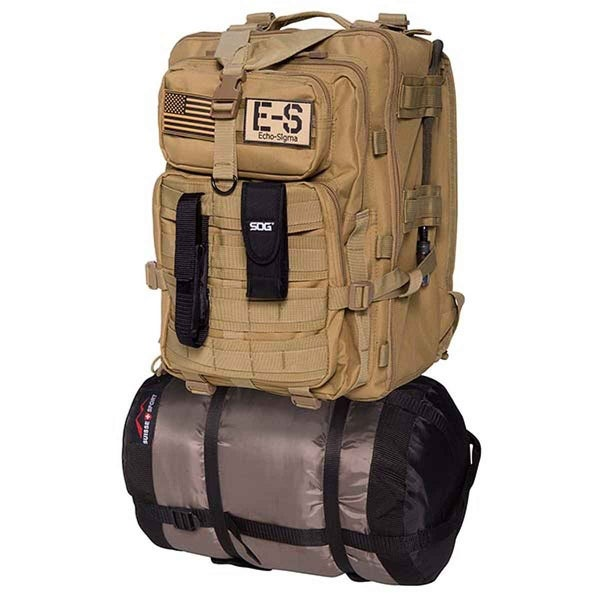 Echo-Sigma Emergency Bug Out Bag Coyote - ES-BOB-COY