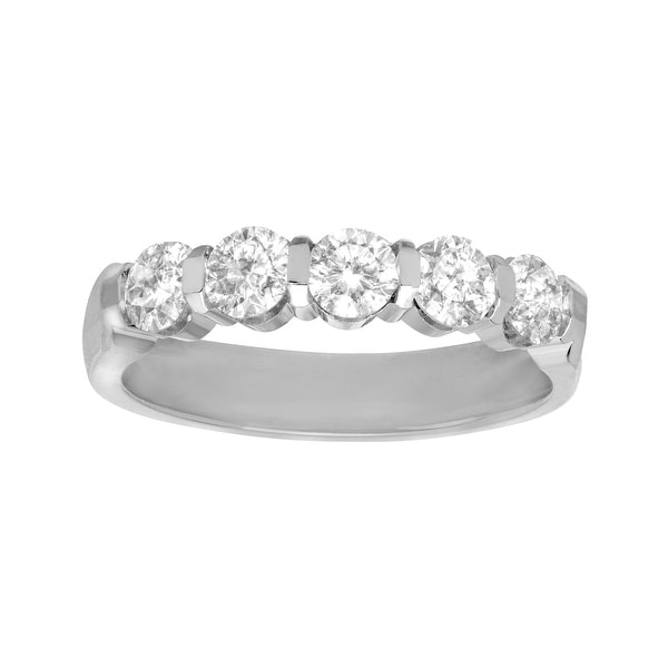 1 ct Channel Diamond Band Ring in 14K White Gold