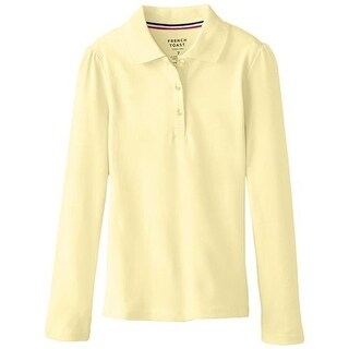 French Toast Girls 7-20 Long Sleeve Pique Polo