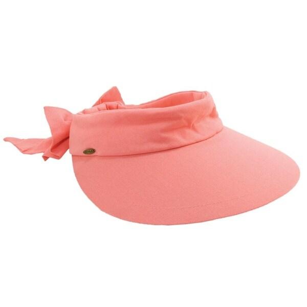 Scala Women's Visor Hat With Big Brim V25