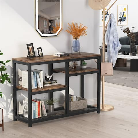 """47"""" Console Table with 4 Storage Shelves, TV stand Sofa Table Entry Table"""
