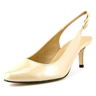 Vaneli Luella N/S Pointed Toe Patent Leather Slingback Heel