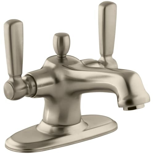 kohler single hole bathroom faucet. Kohler K-10579-4 Bancroft Single Hole Bathroom Faucet - Free Metal Pop- O