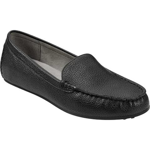 Aerosoles Women's Over Drive Loafer Black Faux Leather
