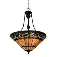 "Meyda Tiffany 125115 Ilona 3 Light 20.5"" Wide Hand-Crafted Pendant with Stained Glass"
