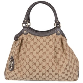 New Gucci 367802 Medium Beige Canvas GG Guccissima Charmy Sukey Purse Handbag