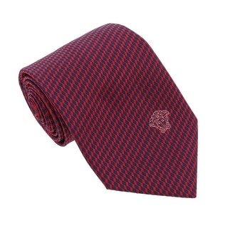 Versace Red/Navy Blue Woven Squiggle Tie