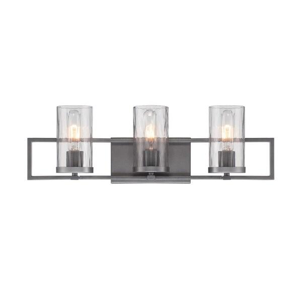 Designers Fountain 86503 Elements 3 Light Bathroom Vanity Light - charcoal