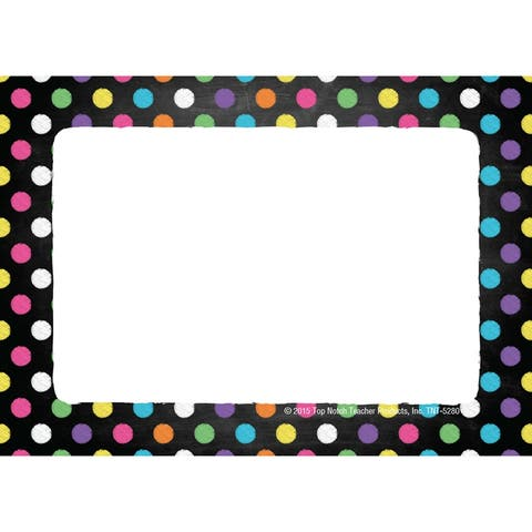 Chalkboard Dots Name Tags/Labels, Pack of 32 - One Size