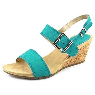 Bandolino Gladis Open Toe Synthetic Wedge Sandal