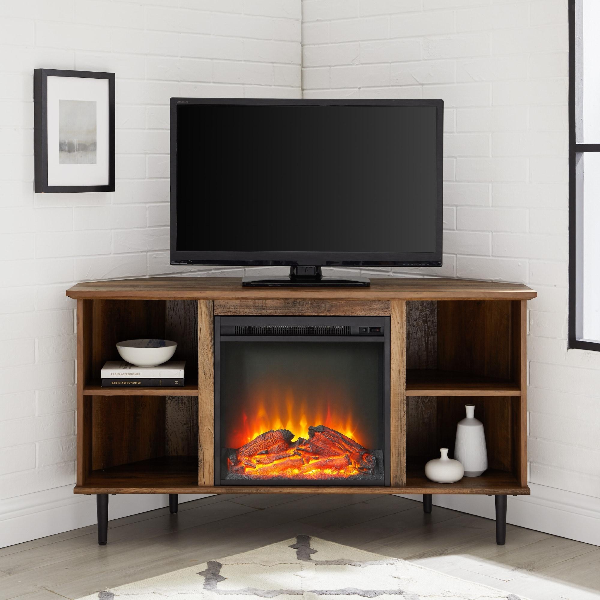 Carbon Loft 48-Inch Corner Fireplace TV Console