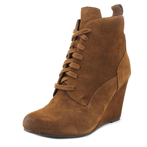 Dolce Vita Grady Women Round Toe Suede Brown Ankle Boot