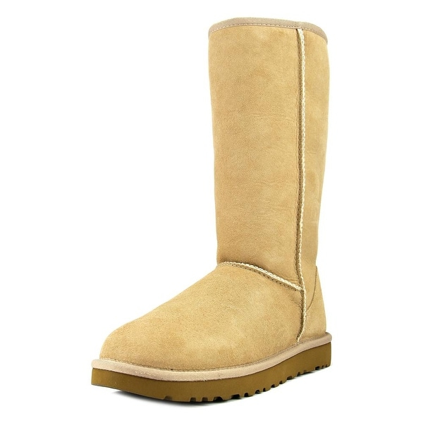 Ugg Australia Classic Tall ll Women Round Toe Suede Nude Winter Boot