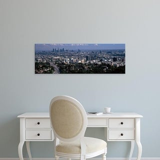 Easy Art Prints Panoramic Image 'Buildings in city, Hollywood, Los Angeles, Los Angeles County, California' Canvas Art