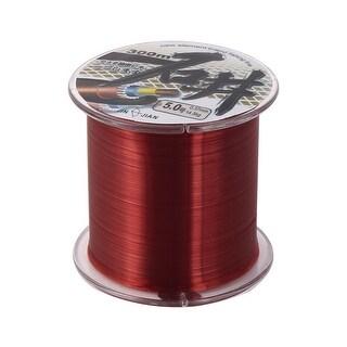 Unique Bargains Plastic Shell Fishing Line Spool Clear Red 300m Length 0.37mm Dia 14.5kg Load 5#