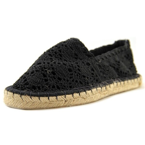 Qupid Sunshine 02A Women Round Toe Canvas Black Espadrille