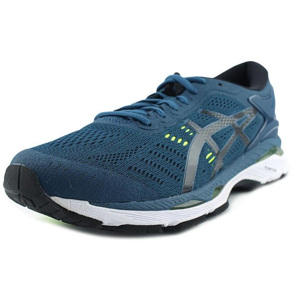 Asics Gel Kayano 24 Men Round Toe Synthetic Green Running Shoe