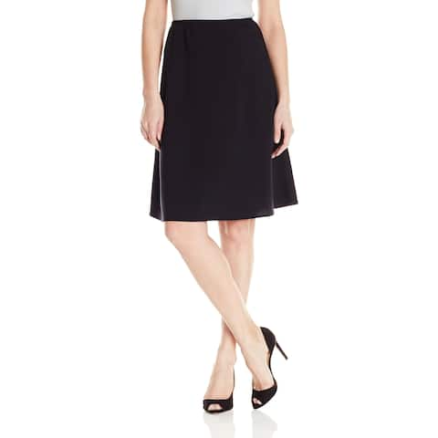Briggs York Women's Black Size Large PL Petite Pull On A-Line Skirt