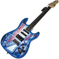 Henrik Lundqvist New York Rangers Electric Guitar