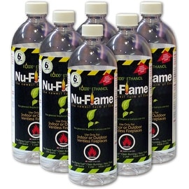 Bluworld Nu-Flame Bio-Ethanol Fuel, 6-Pack