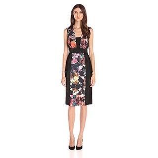 Rachel Rachel Roy Women's Printed Mesh Midi Dress Multi Combo, 0