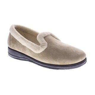 Women's Isla Loafer-Style Suede Slippers - Beige - Size 42