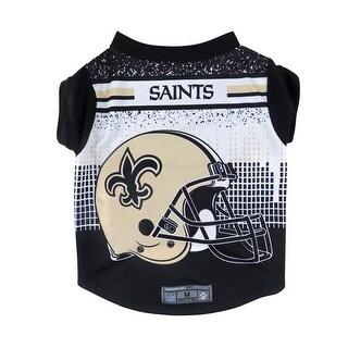 New Orleans Saints Pet Performance Tee Shirt Size L