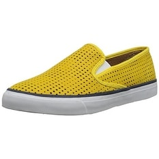 Sperry Womens Seaside Leather Low Top Slip On Fashion Sneakers