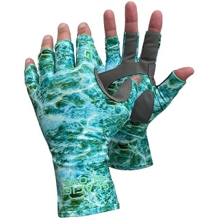 Link to Glacier Glove Islamorada Fingerless Sun Gloves - Green Water Camo Similar Items in Gloves