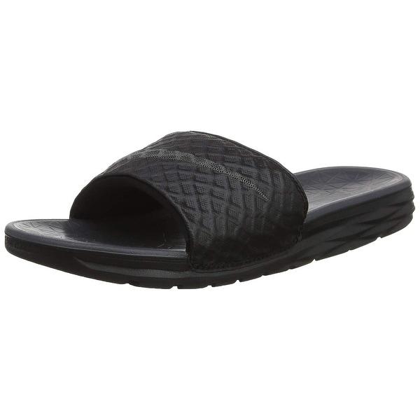 100% authentic 36d14 d89b8 Nike Mens Benassi Solarsoft Slide 2 Sandals Black Anthracite Size 10