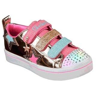 Skechers Kids Girls' Twi-Lites-Twinkle Starz Sneaker, Rose Gold, 2.5 Medium Us Little Kid