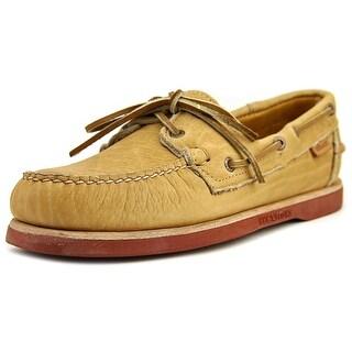 Sebago Crest Docksides Men Round Toe Leather Tan Loafer