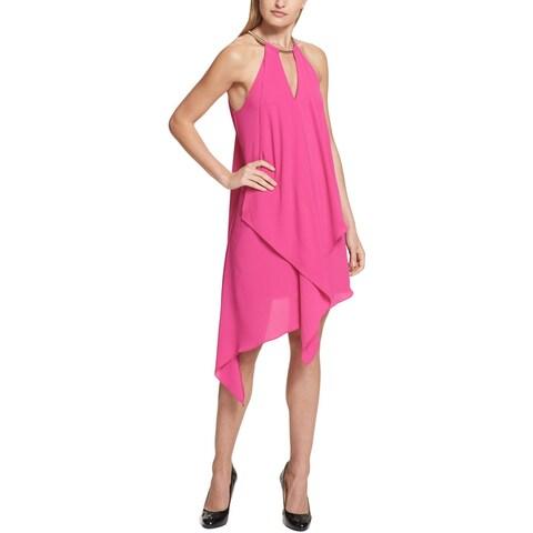Kensie Womens Cocktail Dress Asymmetric Choker