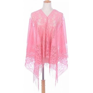 Shine Mark Accessories MSF736-6-06 Lace Shawl - Pink