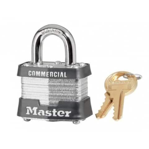 """Master Lock 3KA-3447 3-Keyed Alike Laminated Steel Padlock, 1-1/2"""""""